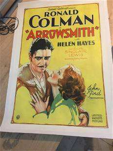 Arrowsmith - Ronald Coleman (1931) US One Sheet Movie