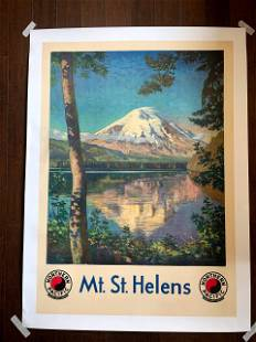 "Mount St. Helens - Art by Gustav Krollman (1926) 30"" x"