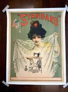 "Standard Sewing Machine - Art by PAL (1900) 24.5"" x 31"""