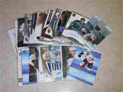 HUGE NHL HOCKEY AUTOGRAPH & RELIC LOT