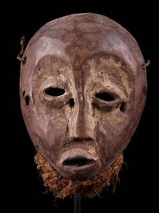 Wooden Mask, Lega people, DR Congo, 1930s to 1940s