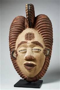 Wooden Okuyi dance mask, Punu people, Gabon