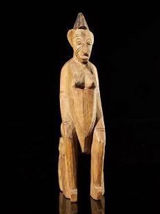 Statue on stool, Senufo people, Ivory Coast