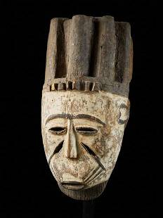 Nigerian Face Mask with Scarifications,Nigeria
