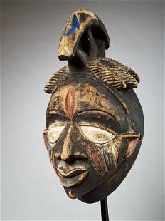 Wooden helmet mask, Yoruba people, Nigeria