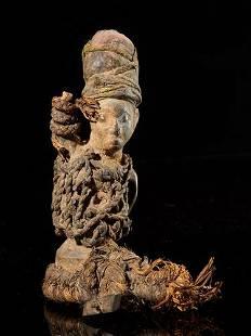 Wooden half fetish figure, Yombe people, DR Congo