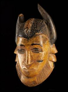 Small Horned Mask, Baule people, Ivory Coast