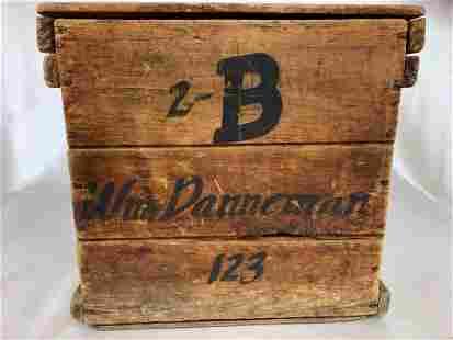 Antique Wood Egg Crate
