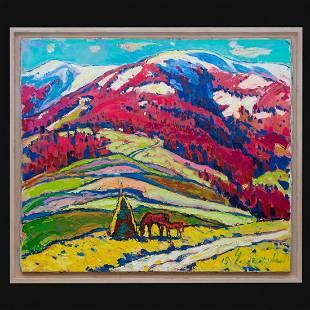 "Chebotaru Andrey - Painting ""Carpathians"""