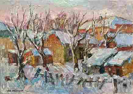 "Makarov Viktor Vasilievich - Painting ""Winter in the"