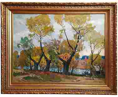 "Kokin Mikhail Aleksandvovich - Painting ""Three willows"""