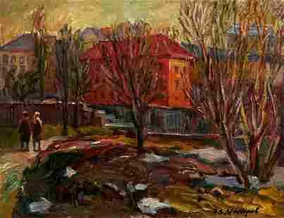 """Makarov Viktor Vasilievich - Painting """"Autumn walk"""""""