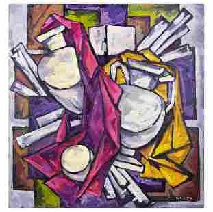 """Kublik Mikhail Alexeyevich - Painting """"Gypsum Vases"""""""