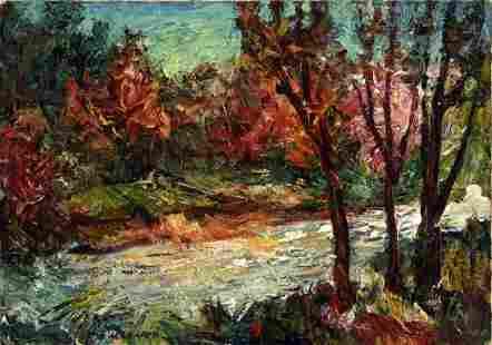 """Makarov Viktor Vasilievich - Painting """"River landscape"""""""