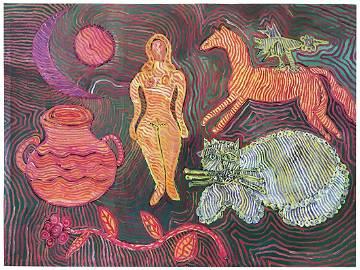 """Boyko Peter - Painting """"Cucuteni–Trypillia"""""""