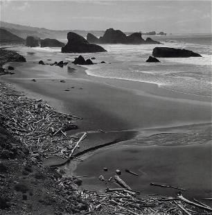 ANSEL ADAMS - Coast South of Cape Sebastian, 1968