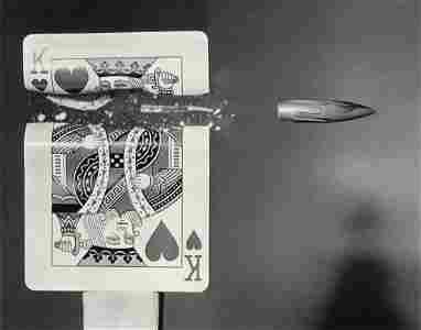 HAROLD EDGERTON - Bullet, King of Hearts, 1960