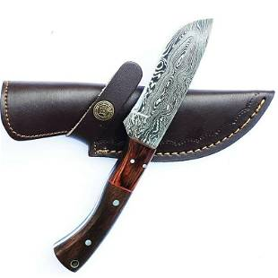 Bowie knife hunting combat damascus steel exclusive