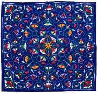 Beautiful large folk art applique quilt
