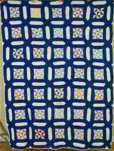 30's Broken Dishes Quilt, Garden Maze Frame