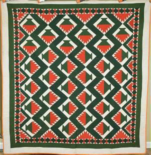 1870's Cake Stand Quilt, Nice Border
