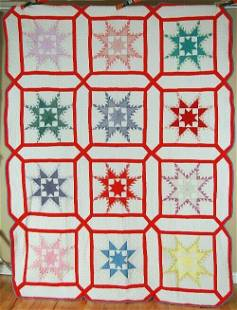 30's Feathered Star Snowflake Quilt