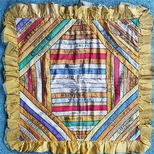 Color 1910's Cigar Silk Ribbon Pillow Sham