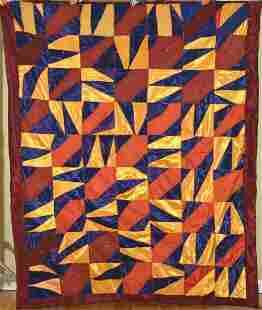 Dynamic 40's Folk Art Crazy Quilt