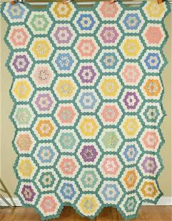 30's Flower Garden Quilt Top