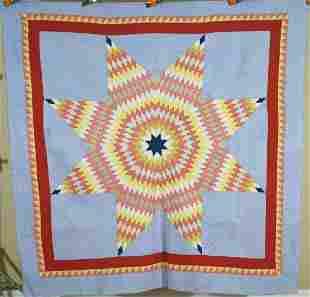 20's PA Mennonite Lone Star Quilt