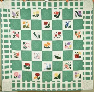 30's Garden of Flowers Quilt