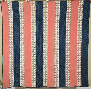 1870's Sawtooth Bars Quilt