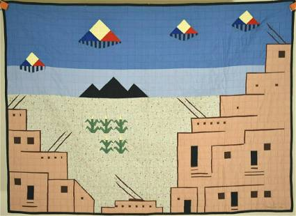 Rare Native American Hope Indian Quilt