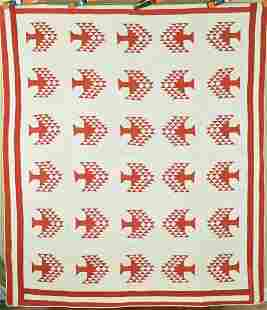 1870's Red & Tree of Life Quilt