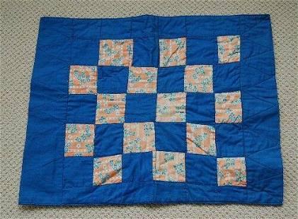 30's Blue & White Doll Quilt