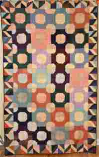 """Matched Pair of Amish Quilts, Dated """"1933"""""""
