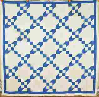 30's Blue & White Quilt Top