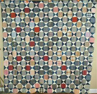 """1880's Hourglass """"8-Point Star"""" Quilt Top"""