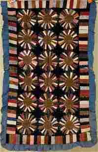 Wheel of Fortune Crib Quilt c. 1900