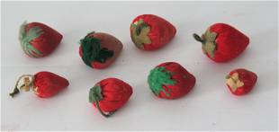Collection of eight strawberry emery's