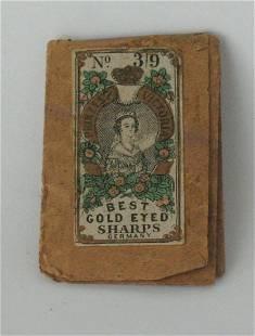 Early German needle package.