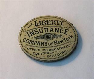 Early advertising tin needle case.