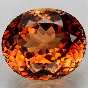 Natural imperial topaz oval-12 ct