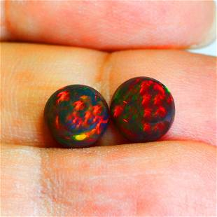 2.60Ct Sparkling Round cut 8 X 8 mm Multi Color Play