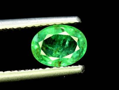 Emerald, 1.15 Carats Oval Cut Natural Zambian Emerald