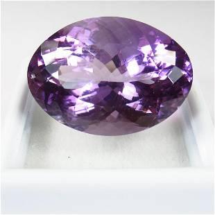 23.95 Ctw Natural Purple Amethyst Oval Cut