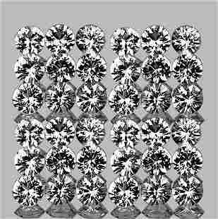 2.00mm Diamond White Topazmm 50 pcs Round Brilliant