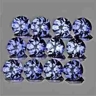 2.80 mm 12 pcs Round AAA Fire Purple Blue Tanzanite