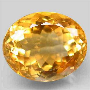 Natural Top Golden Yellow Citrine 14,36 ct