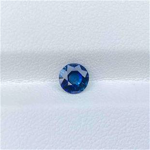 Natural Royal Blue Sapphire Madagascar 0.74 Cts VVS